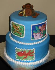 rainforest theme cake image