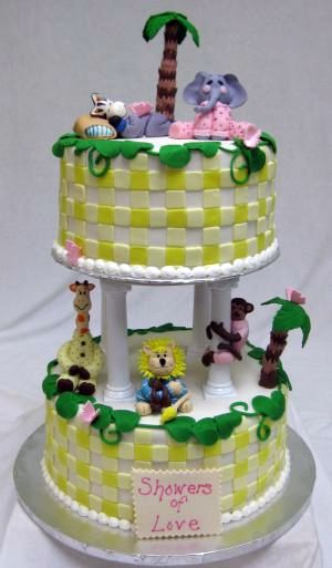 safari baby shower cake image