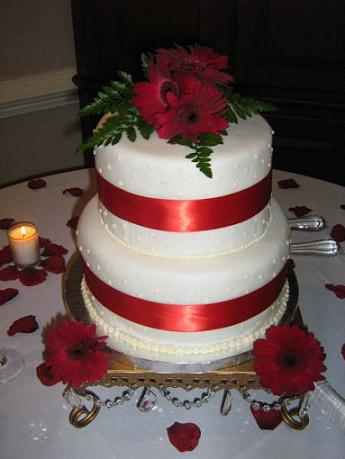 wedding cake completed from computer generated image