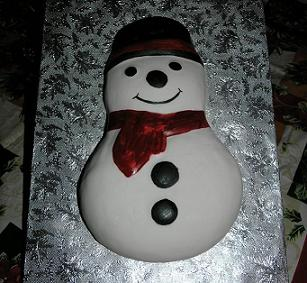 snowman cake image