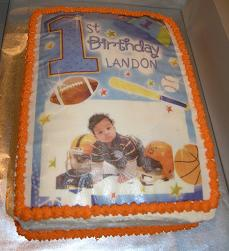 sports 1st birthday cake image