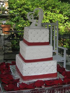 square wedding cakes image