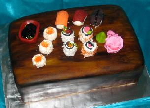sushi birthday cake image