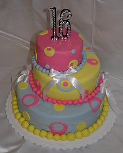 sweet 16 birthday cake image