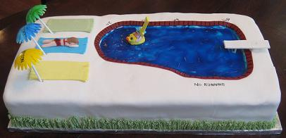 swimming pool cake image