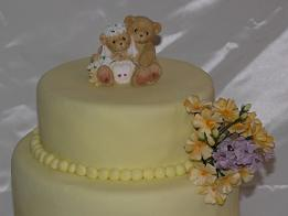 teddy bear wedding cake image