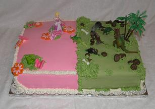 twin birthday cake image