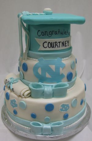 unc graduation cake idea image