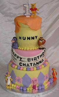 fondant birthday cake image