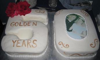 50th wedding anniversary cakes image
