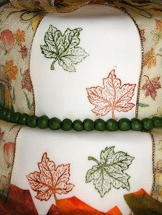 fall leaves cake image