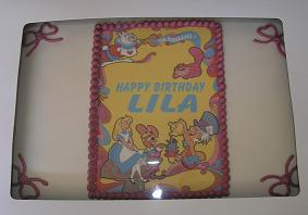 Alice in wonderland cake image