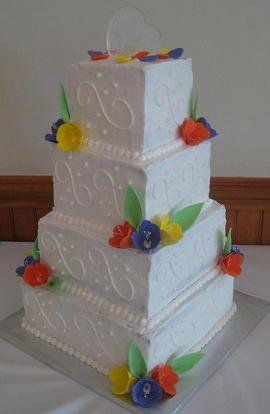 cake with flowers image