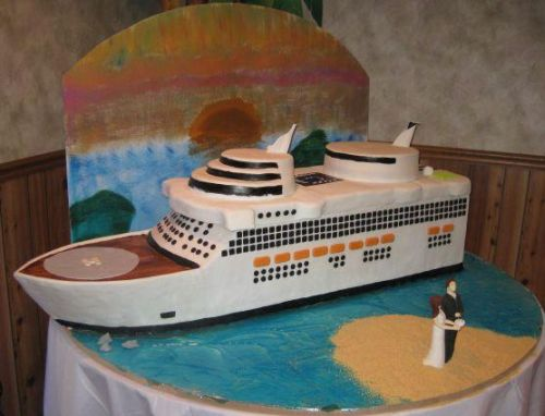 cruise ship cake image