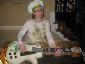 electric guitar cake image