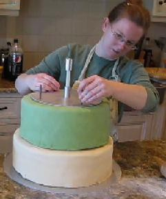 making a wedding cake image
