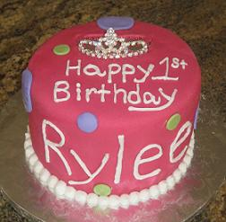 princess 1st birthday cake image
