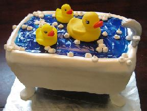rubber ducky cake image