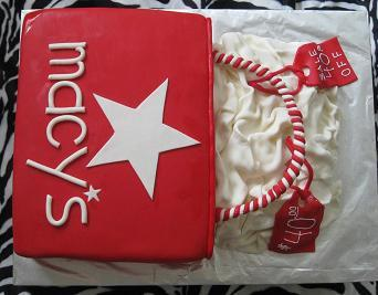 shopping bag cake image