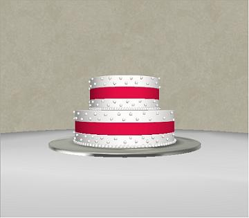 computer generated wedding cake image