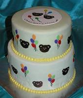 teddy bear baby shower cake image