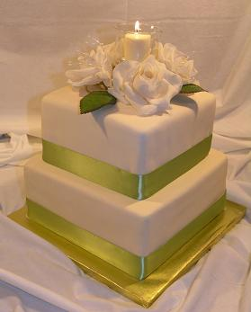 square wedding cake candle image